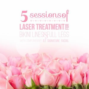Five Session Package - Laser Treatment fo Bikini Lines and Full Legs - Georgetown Rejuvenation